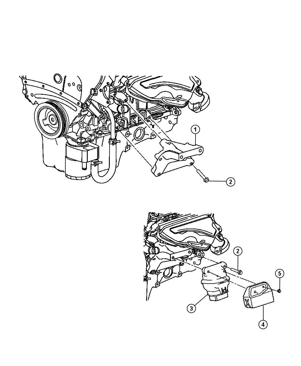 Dodge Magnum Bracket Engine Mount Left Left Side