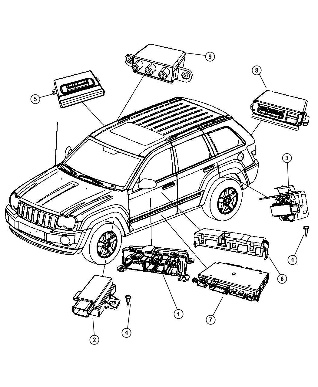 2008 Jeep Commander Module. Tire pressure monitoring