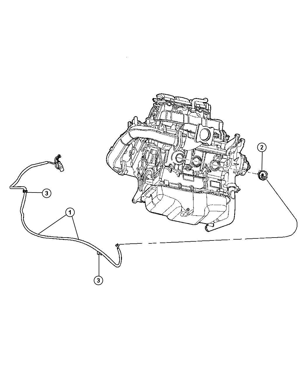 2008 Jeep Wrangler Heater. Engine block. Cylinder