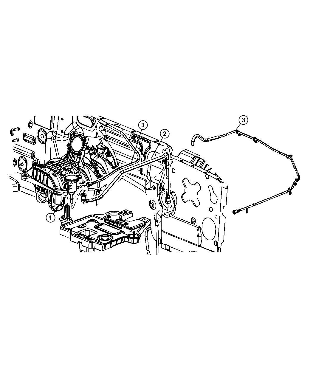Dodge NITRO Harness. Vapor purge. Emission, vacuum