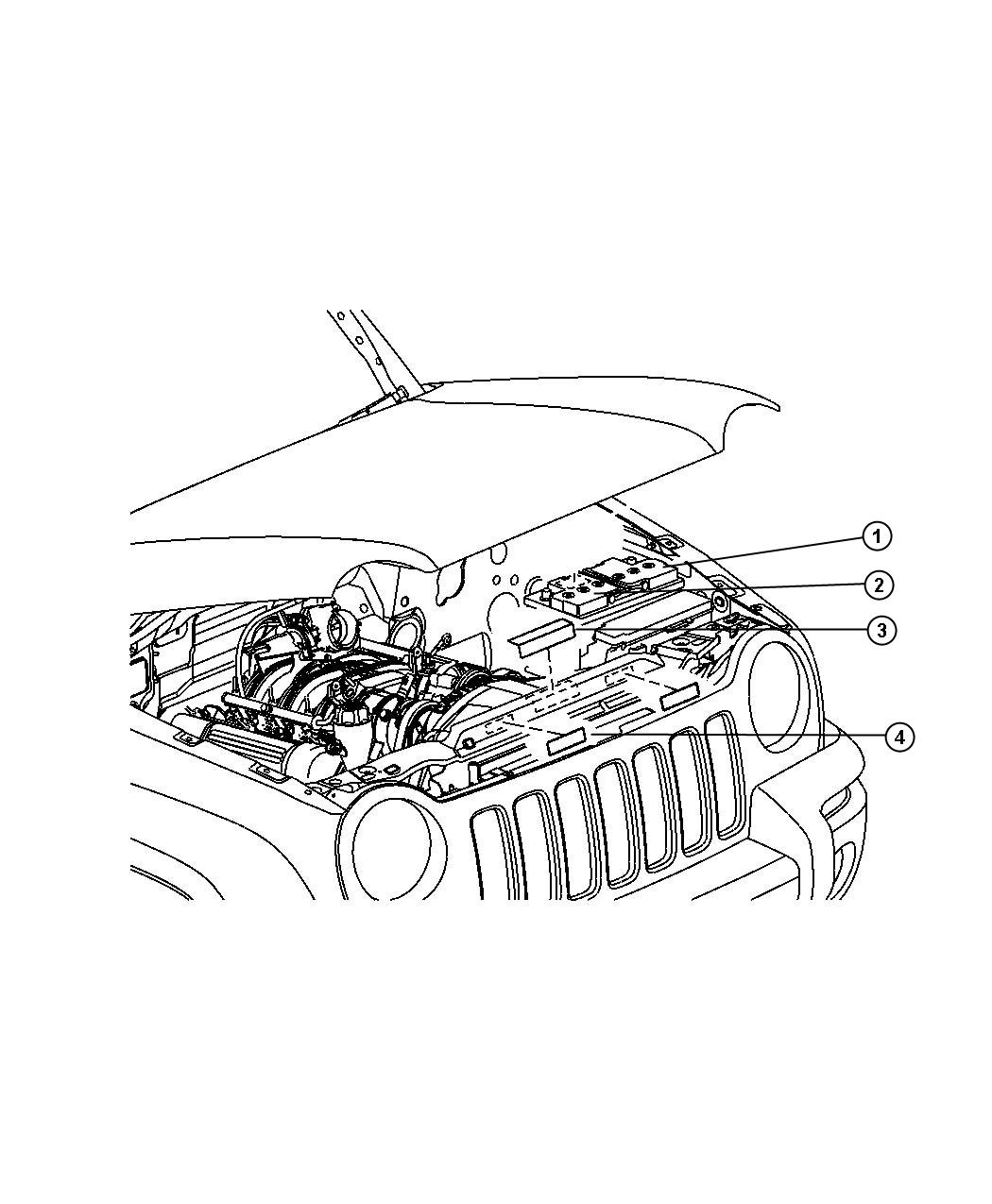 Jeep Liberty Label Battery Battery Warning Export