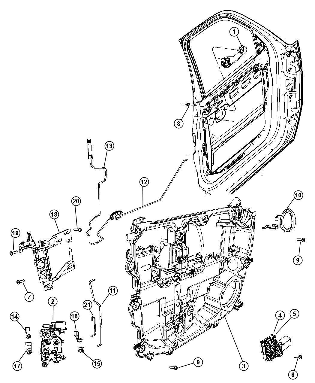 2011 Dodge NITRO Latch. Left. Front door. Module, lock