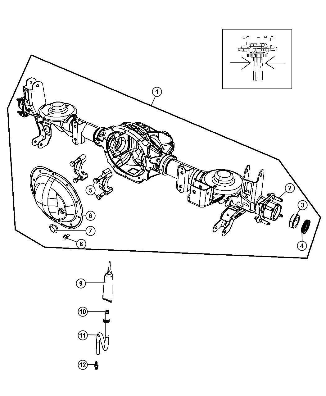 Jeep Liberty Housing. Rear axle. [[3.21 axle ratio, 3.73