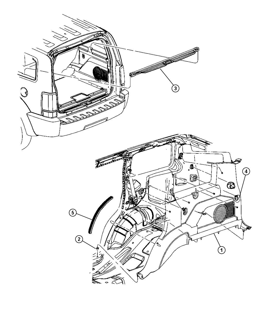 Jeep Liberty Panel Quarter Trim Da Da Without 8