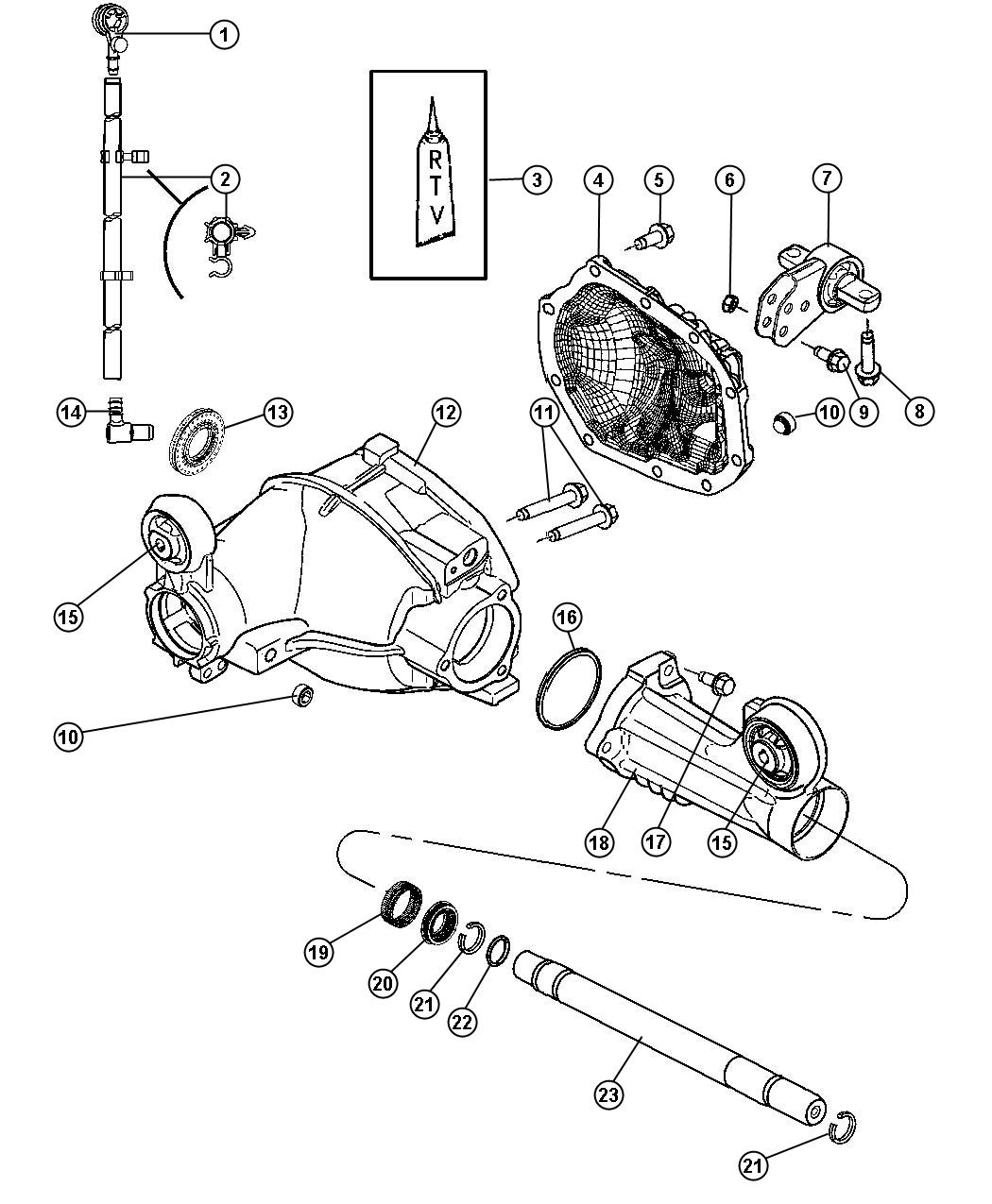 Dodge Charger Isolator. Axle mounting. Front, ratio
