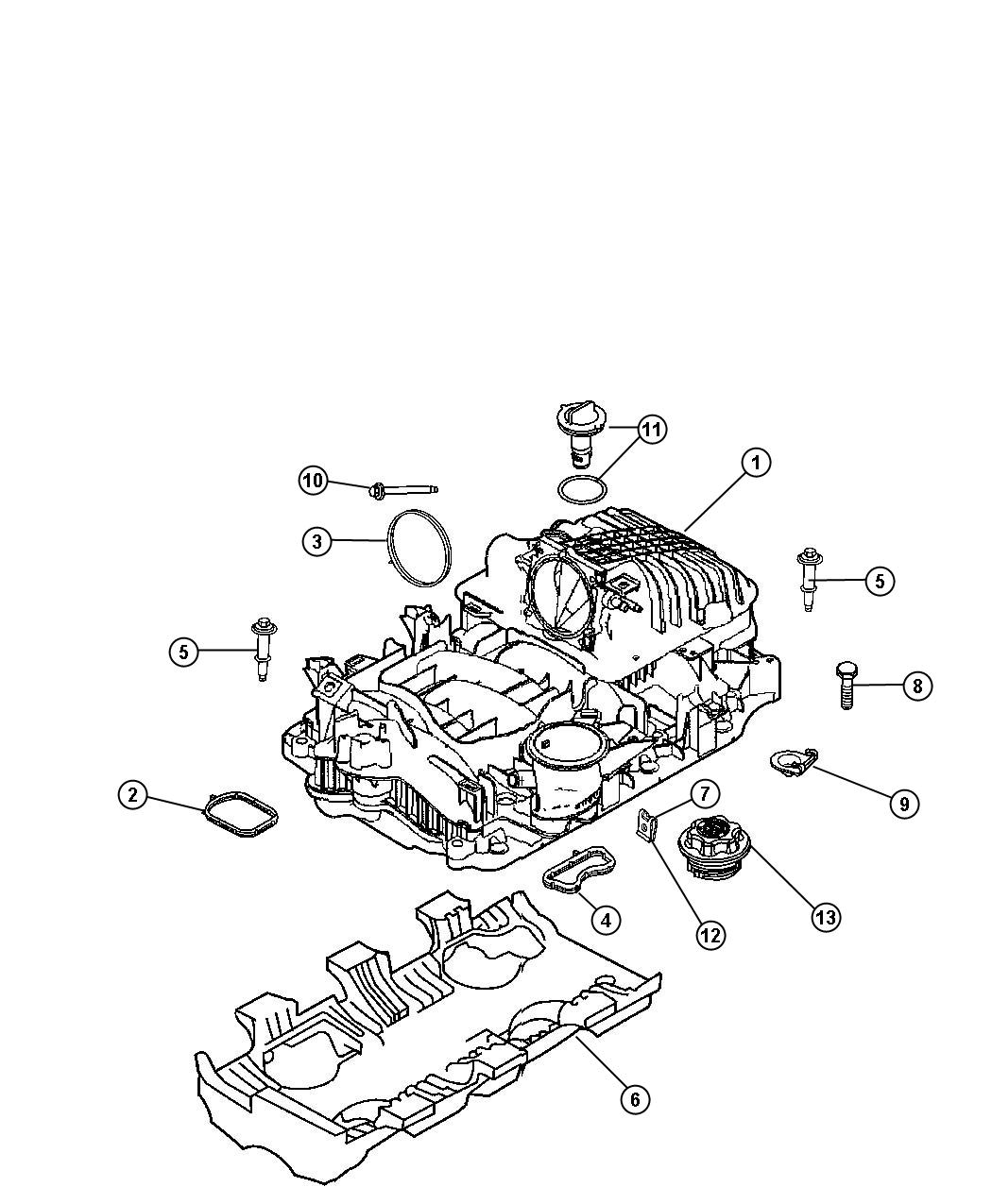 Dodge Durango Valve. Crankcase vent, pcv. Mega cab, quad