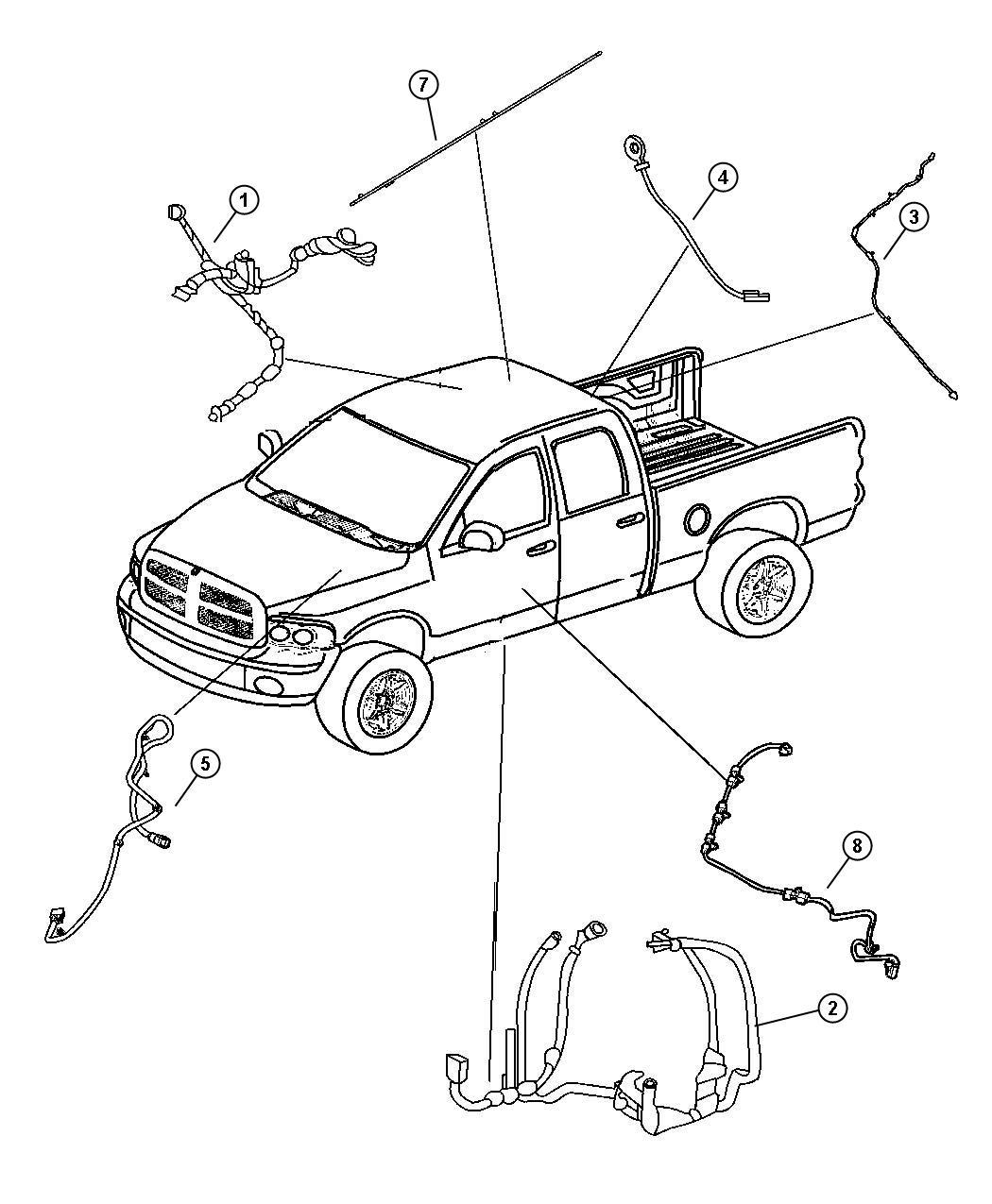 2008 Dodge Ram 4500 Wiring. Electric back light. [rear