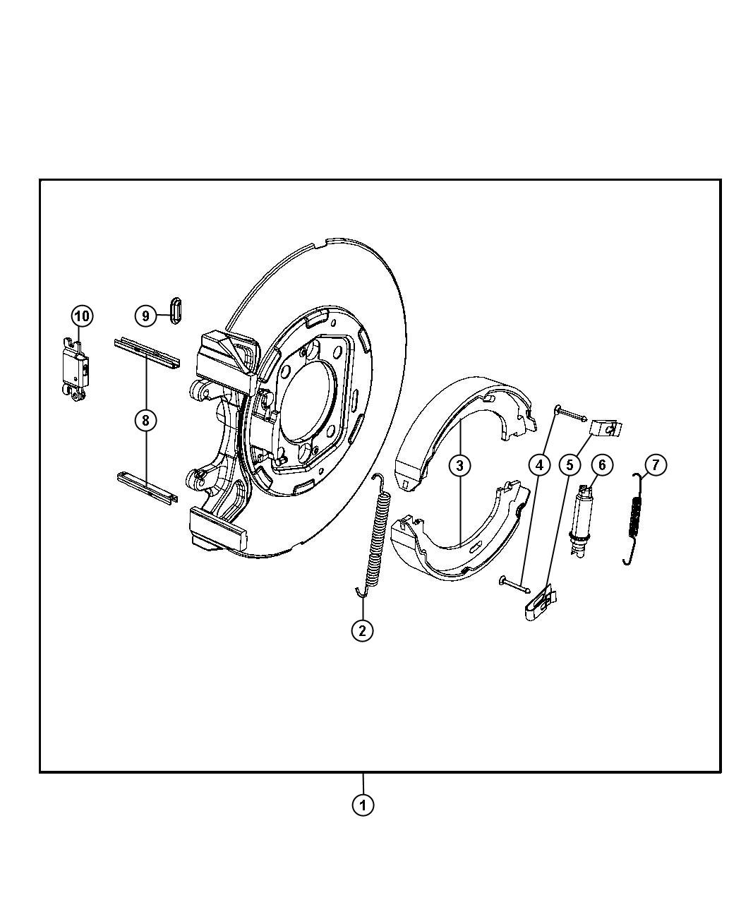 2013 Dodge Charger Adapter, adapter assembly. Parking