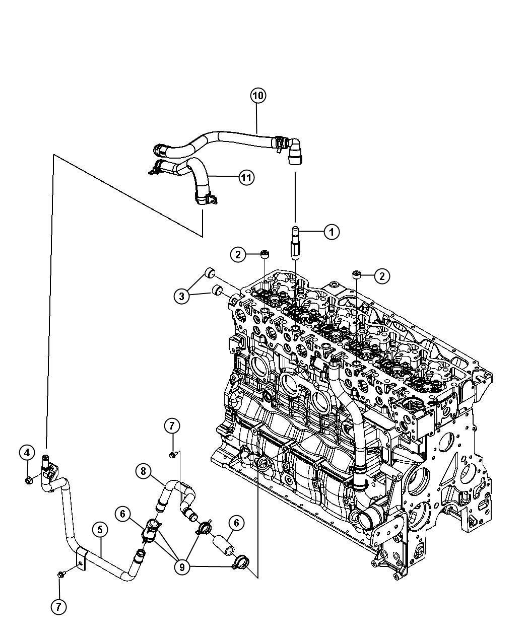 2008 Dodge Ram 5500 Hose. Heater, heater supply. Plumbing