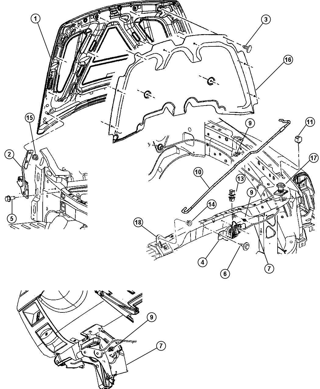 2008 Chrysler Aspen Release. Hood latch. Related, mopar