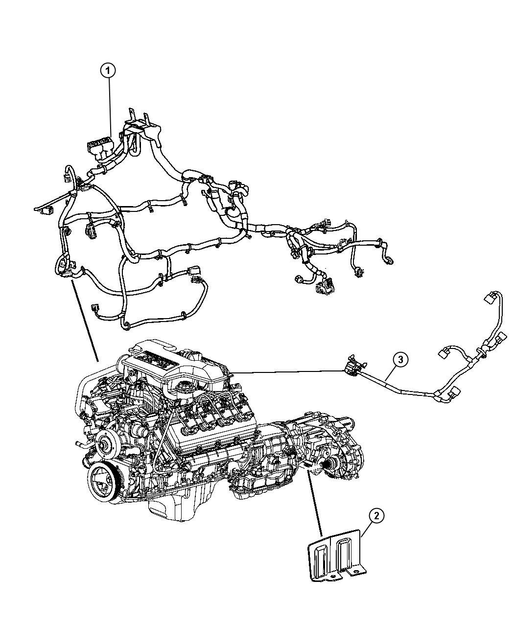 2005 Chrysler 300 Wiring. Jumper. Multiple displacement