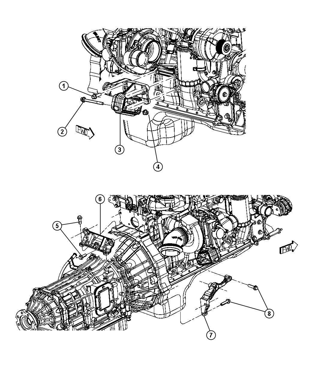 2008 Dodge Ram 5500 Bracket. Engine mount. Right, right