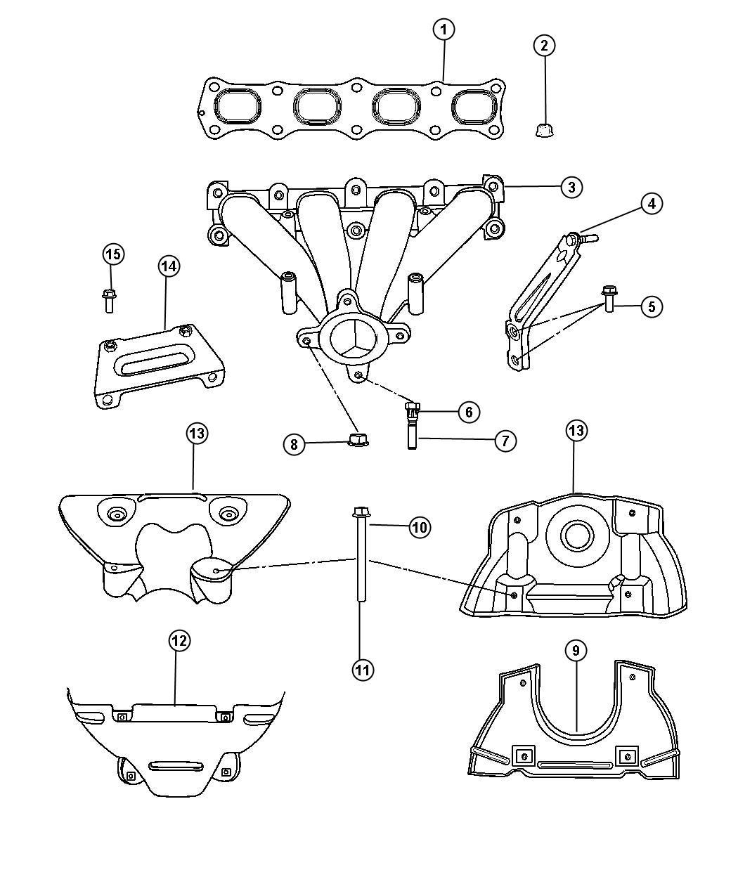 Jeep Patriot Shield. Exhaust manifold, heat. Lower. 4wd