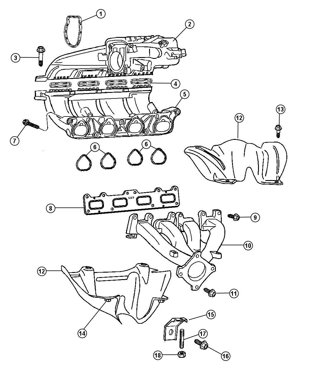 Chrysler Pt Cruiser Manifold Plenum Intake Intake