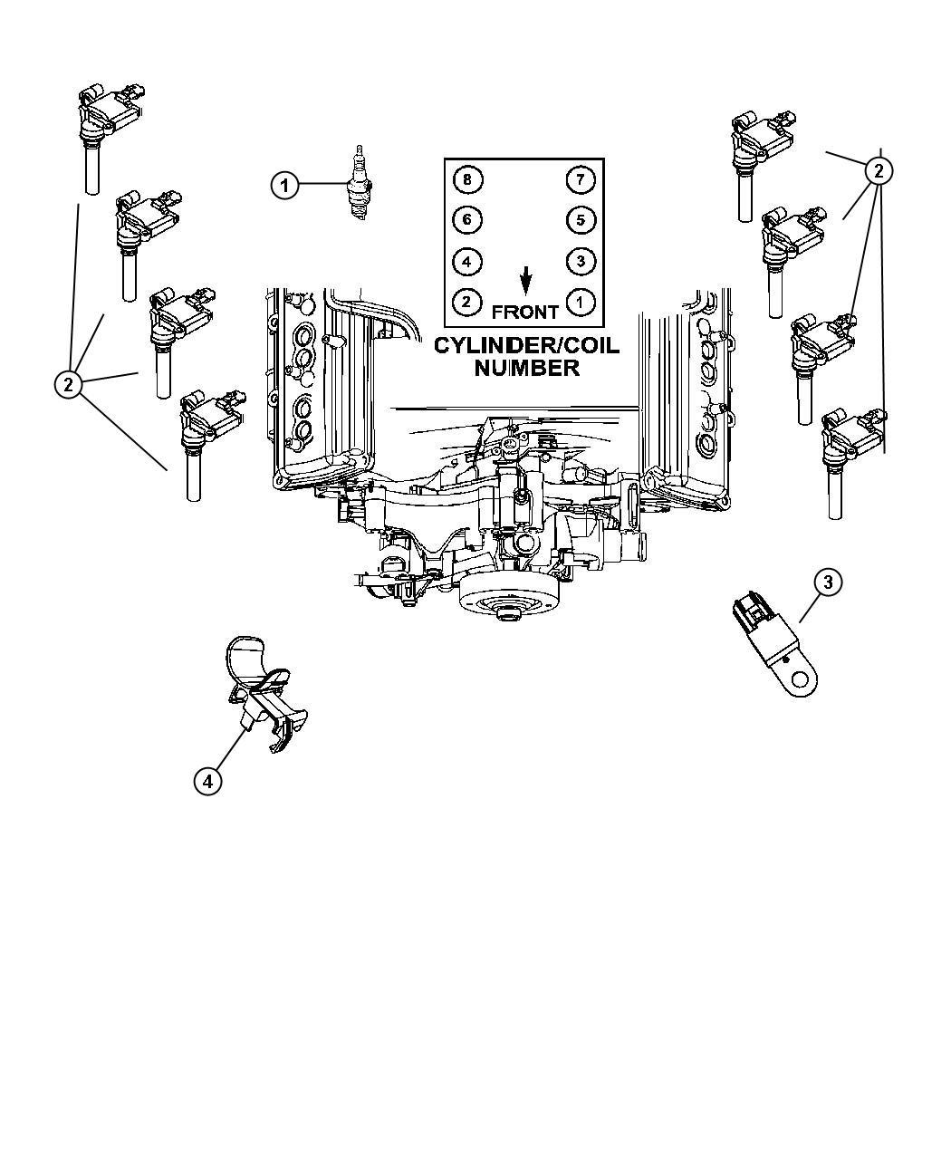 2008 Jeep Commander Spark plug. Plugs, engine, ignition