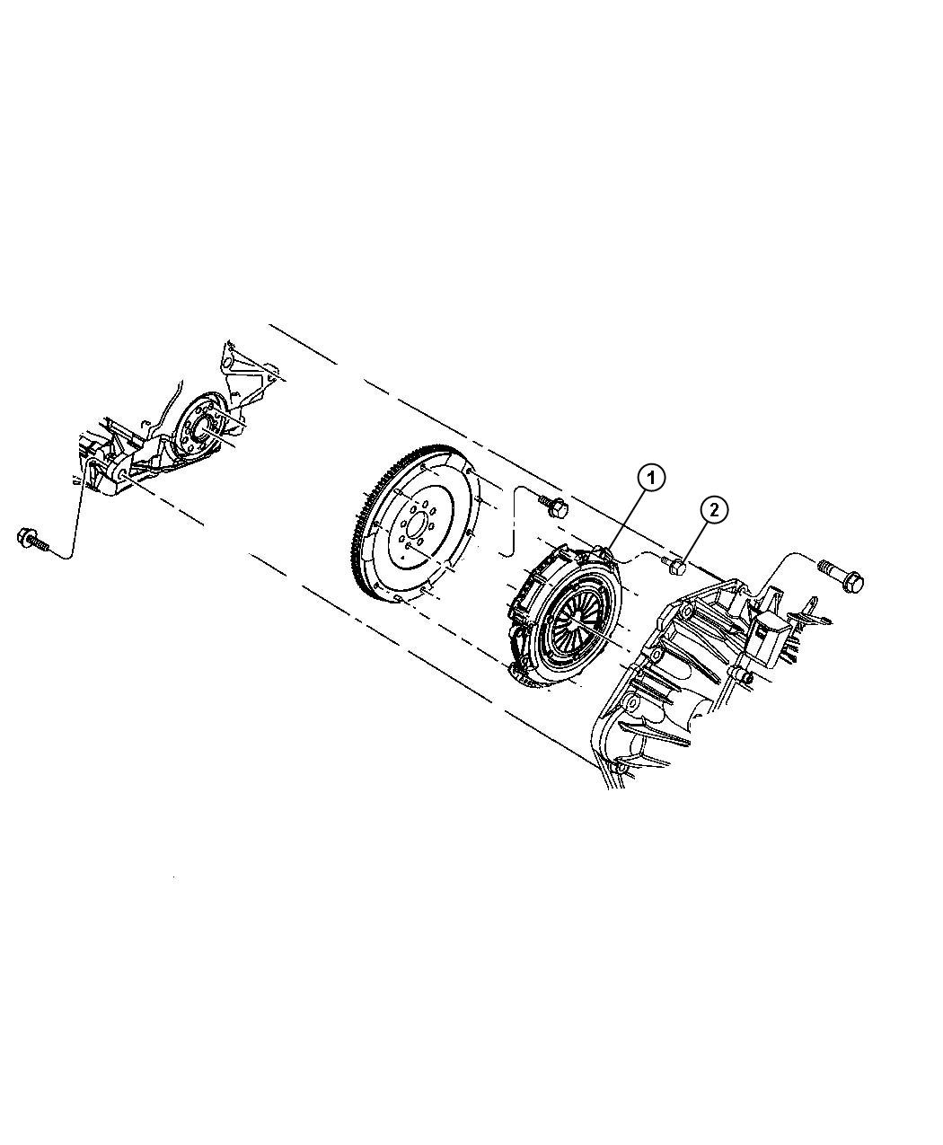 Dodge Caliber Clutch kit. Used for: pressure plate and