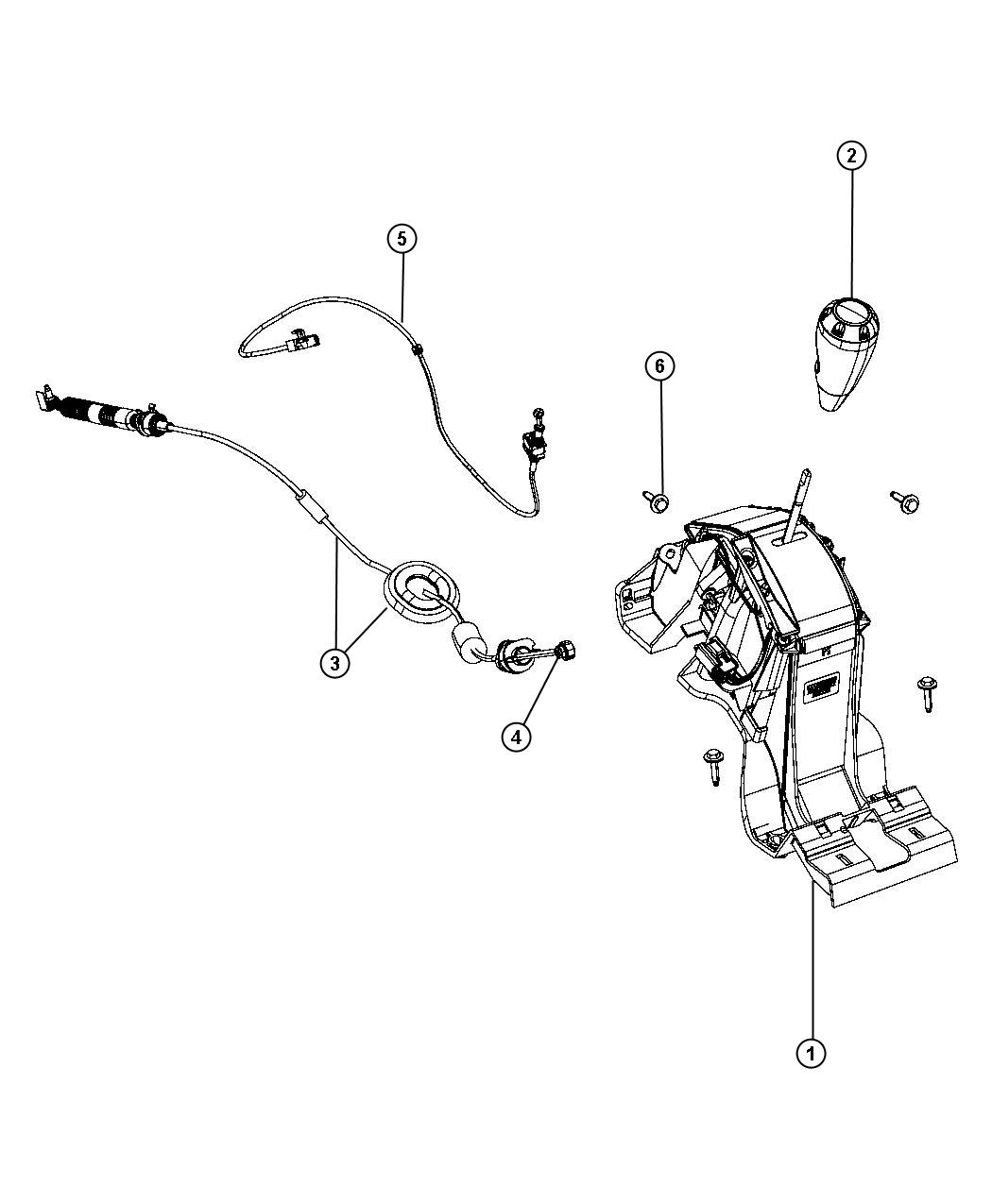 2008 Dodge Caliber Cable. Gear selector, ignition