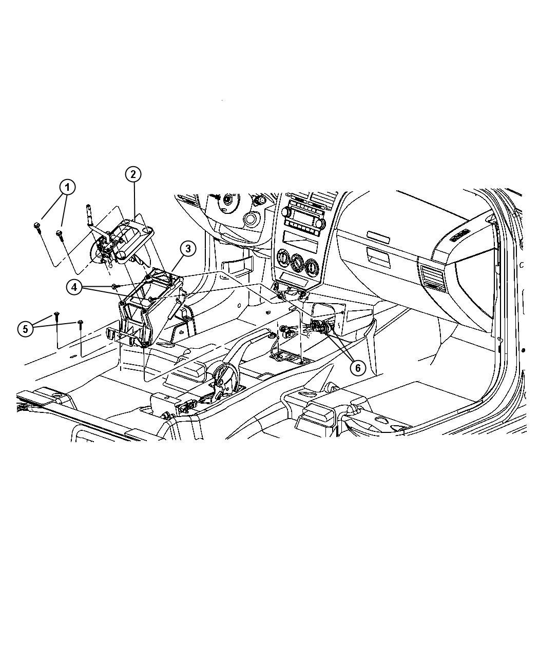 2007 Dodge Caliber Cable. Gearshift control. Transaxle