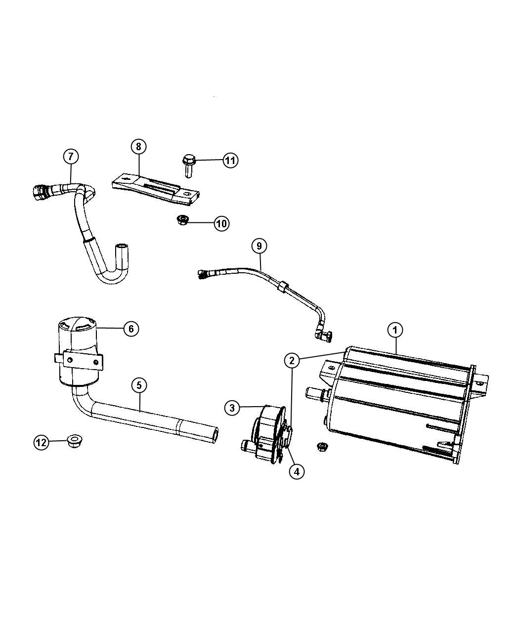 2011 Dodge Caliber Hose. Fuel tank vent line, fuel vapor