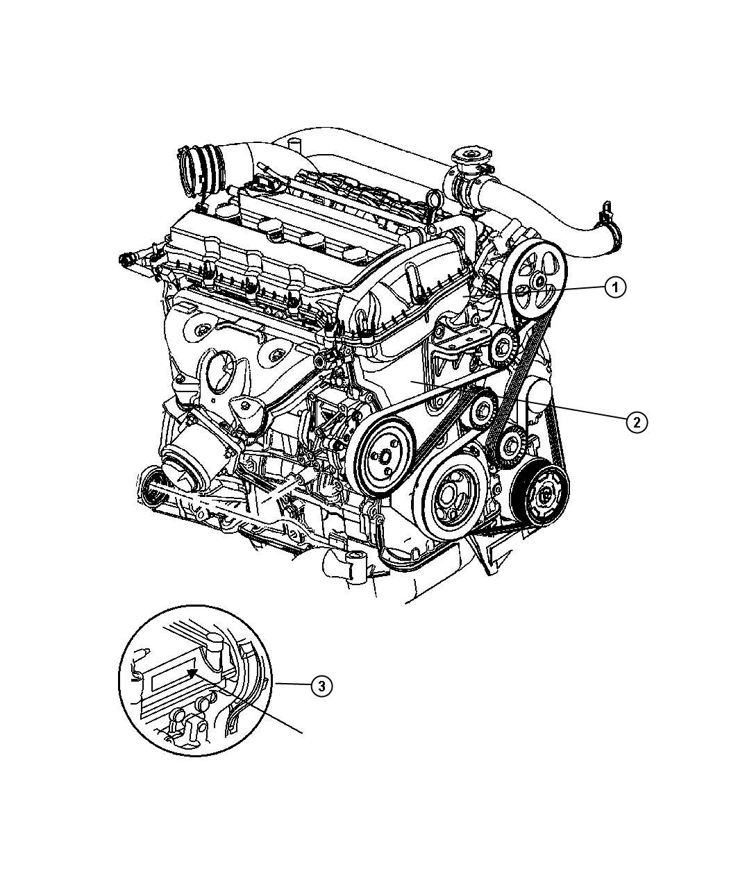 2008 Dodge Caliber Engine. Long block. Turbo