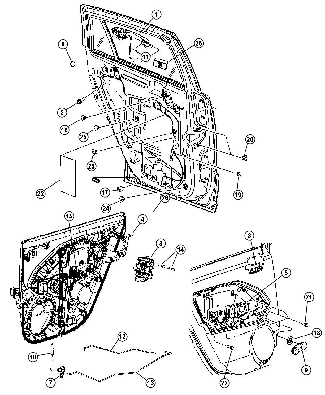 Service manual [1995 Chrysler Concorde Driver Door Latch