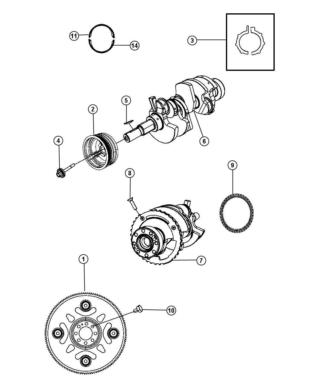 Dodge Caliber Reluctor Wheel Crankshaft Bearings Damper