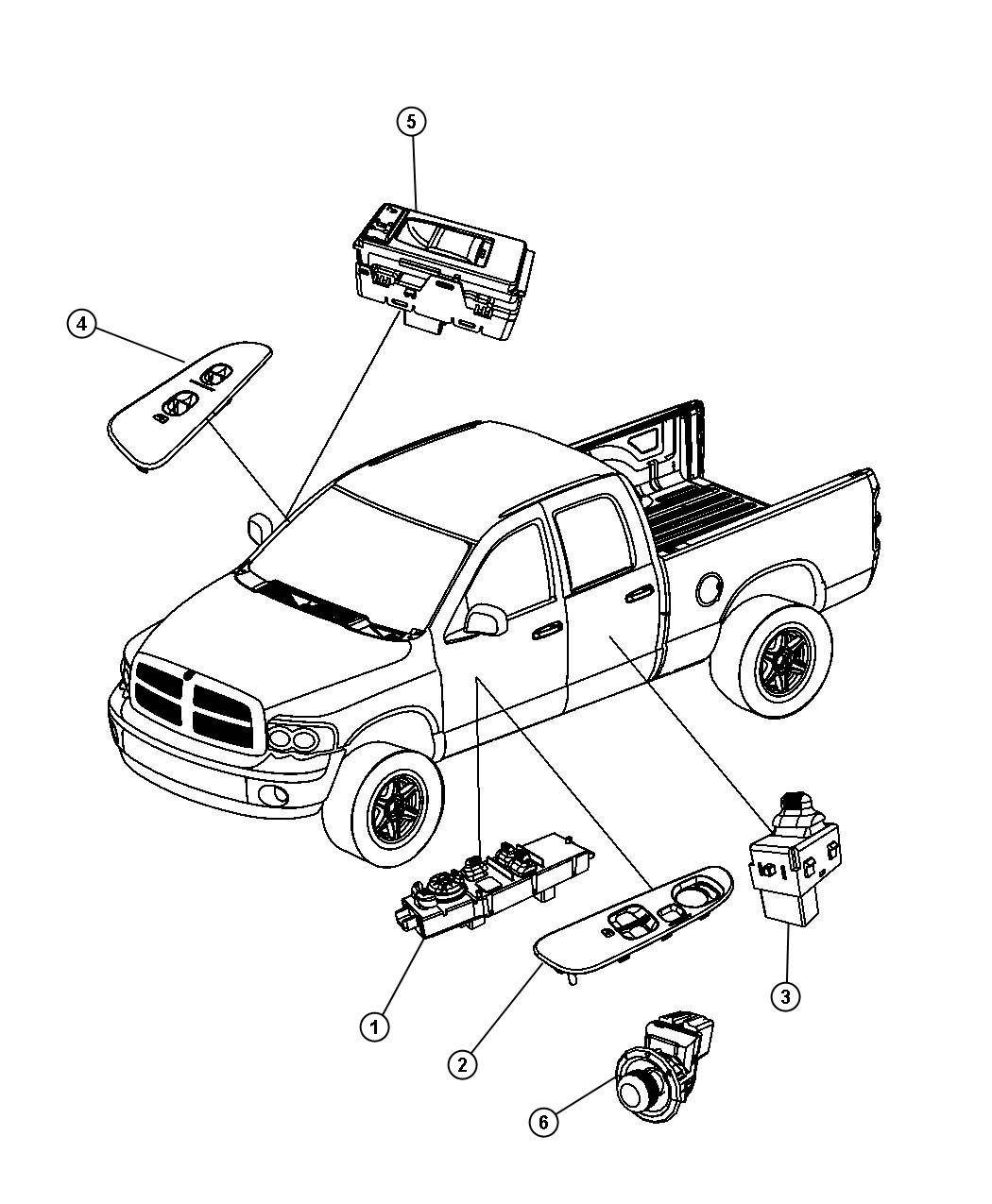 Dodge Dakota Door Diagram