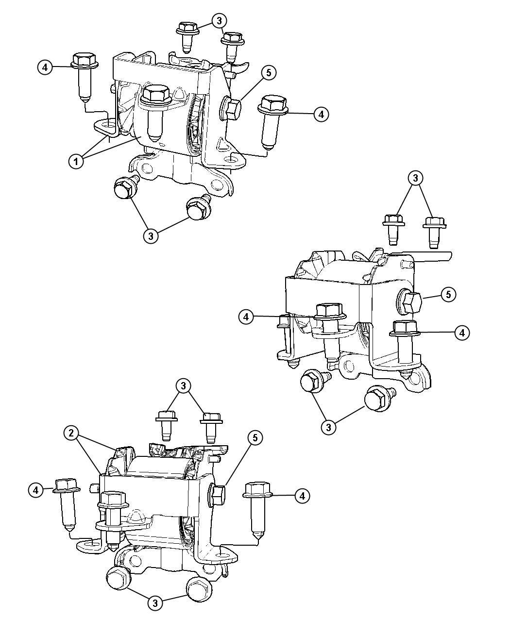 Dodge Caliber Insulator. Engine mount. Left, left side