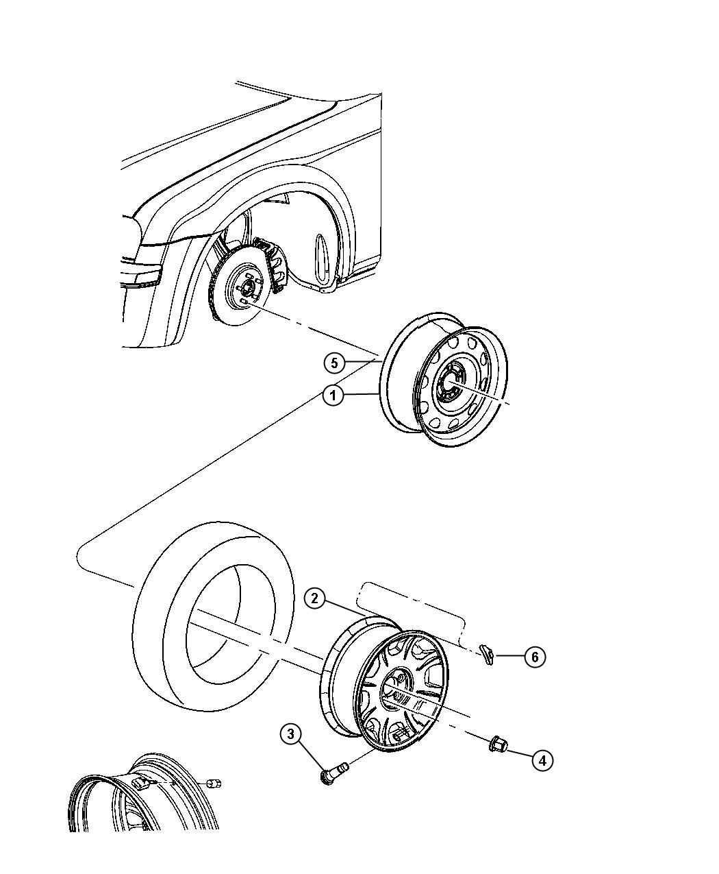 2008 Dodge Magnum Wheel. Aluminum. Color: [no description
