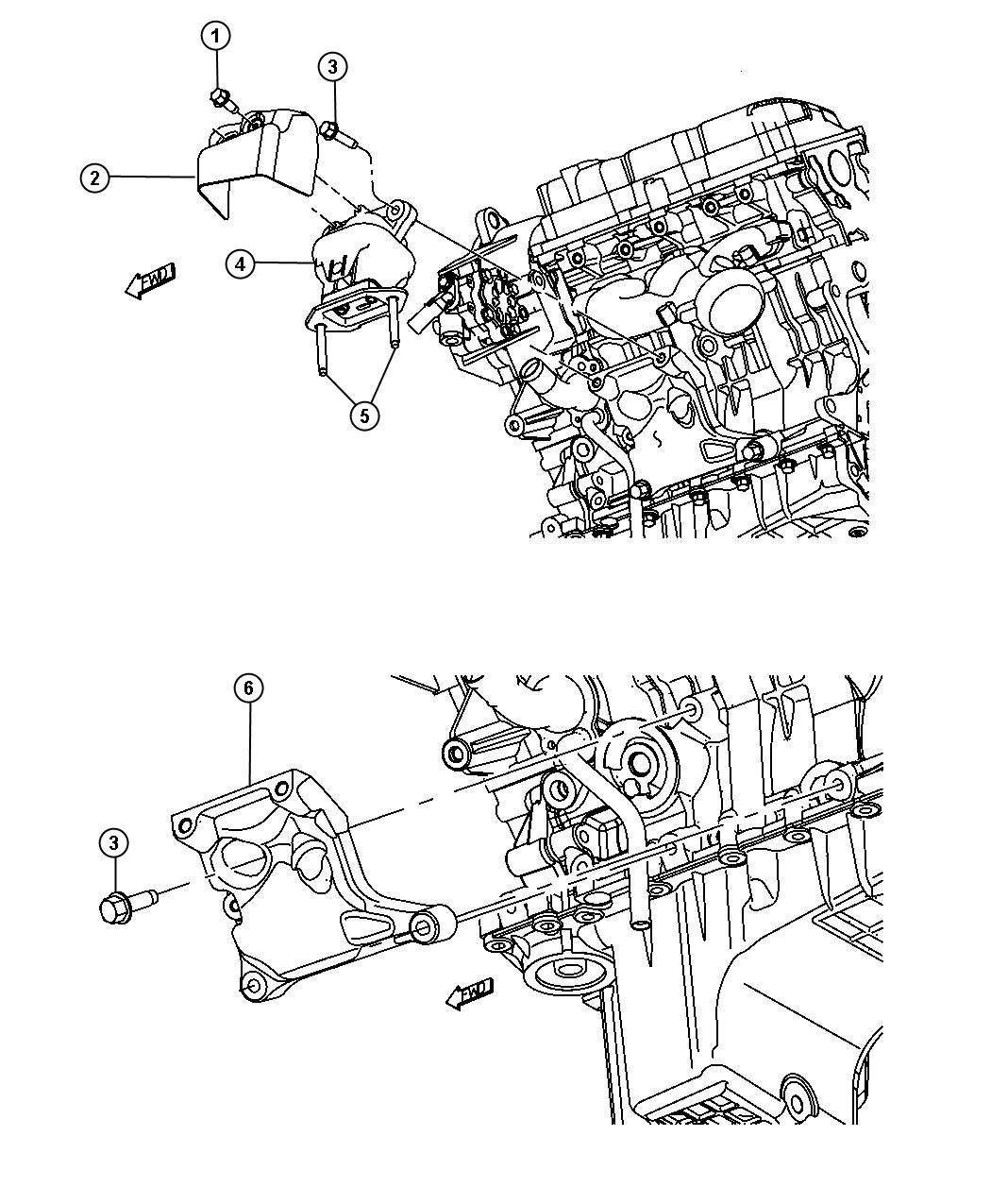 Dodge Magnum Bracket. Engine mount. Left, left side