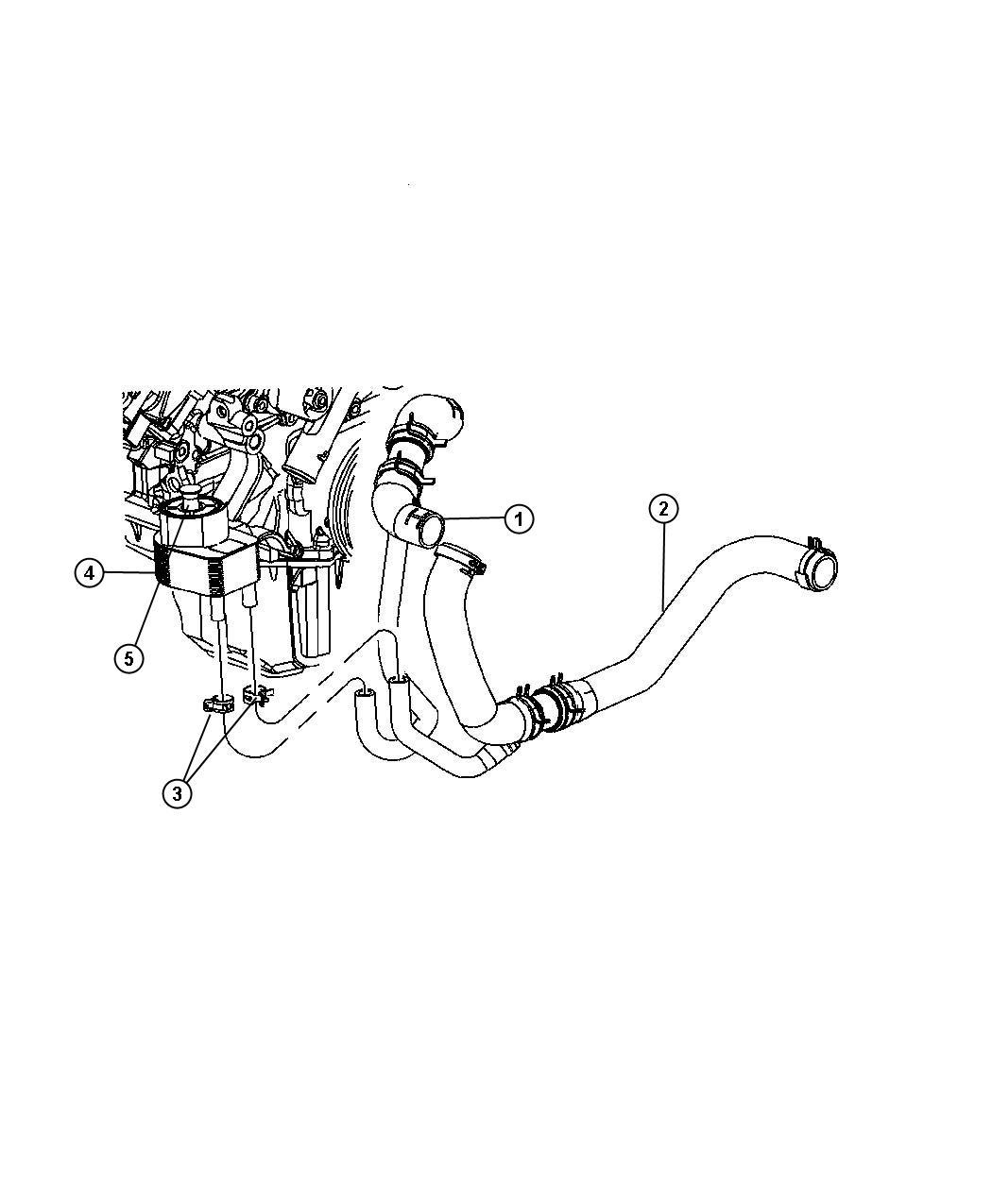 2008 Chrysler 300 Cooler. Engine oil. Ezb, tubes