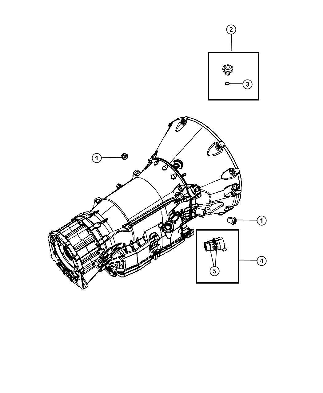 Chrysler 300 Breather Transmission Case Related Rear