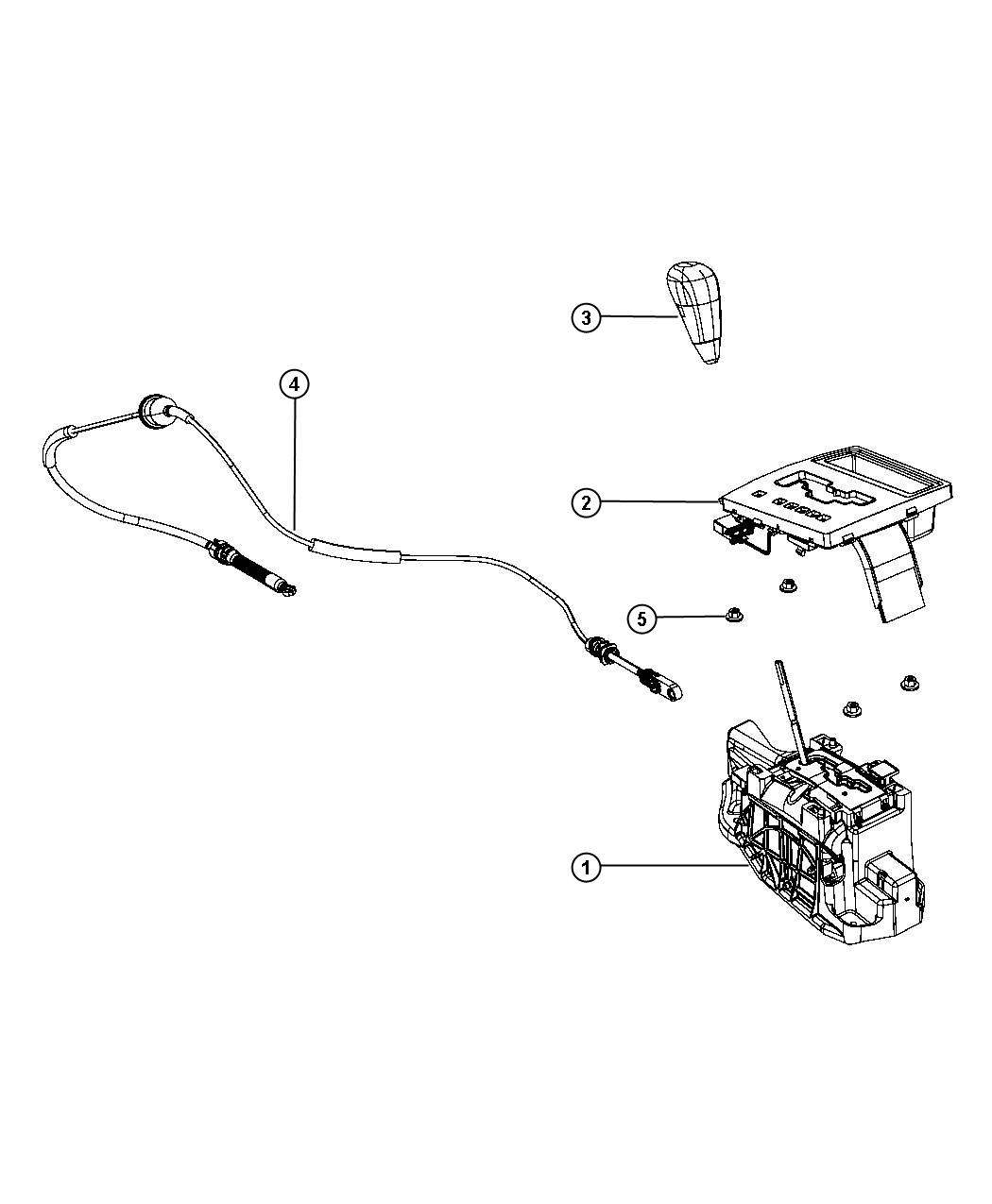 2008 Chrysler 300 Cable. Gear selector. Gearshift