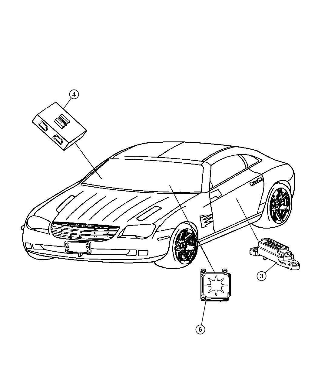 Chrysler Crossfire Sensor Air Bag Build To Export