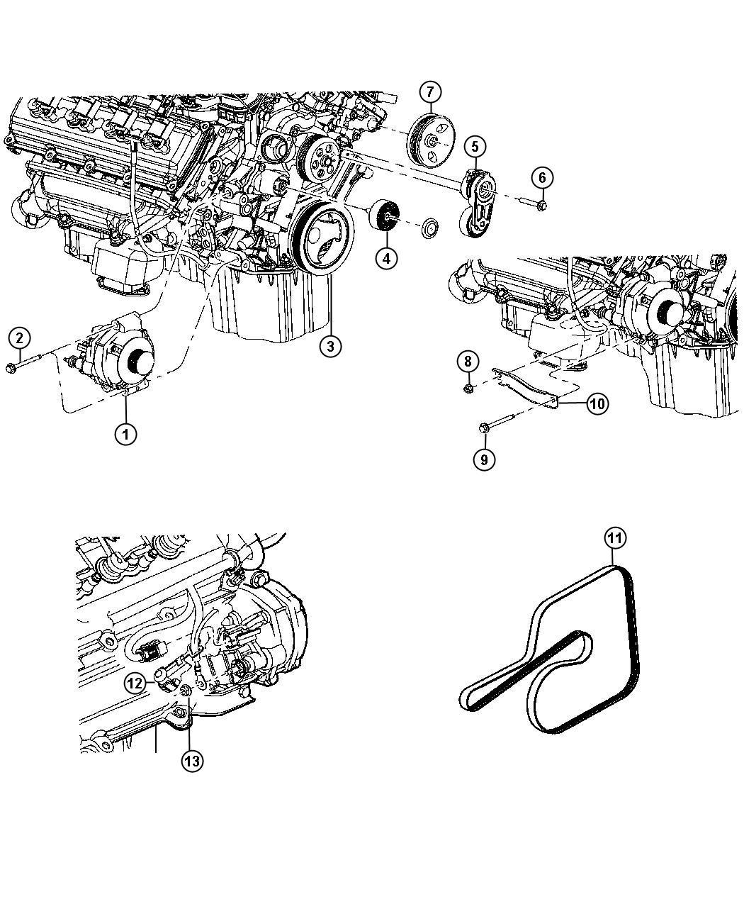 Dodge Viper Belt Accessory Drive Serpentine 6 1l
