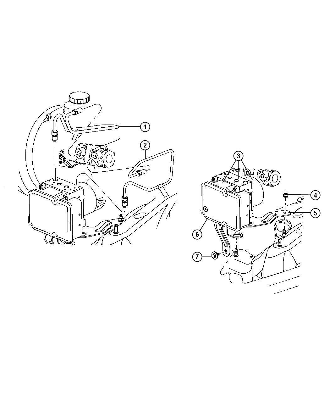 Dodge Nitro Control Unit Anti Lock Brake Hydraulic