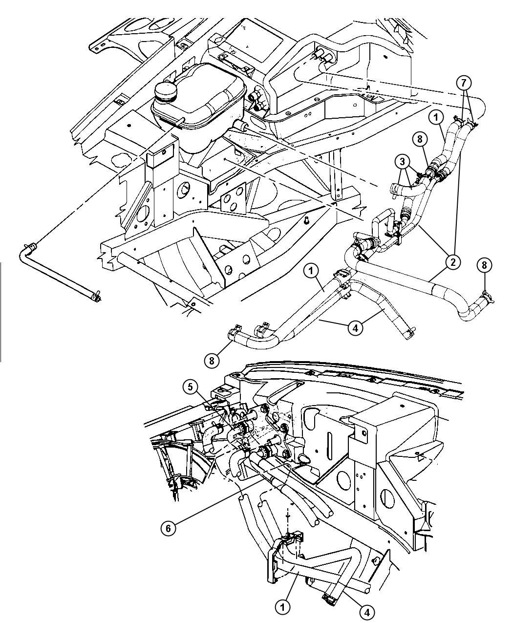Dodge Viper Line Oil Cooler Inlet Engine Sfi Heater
