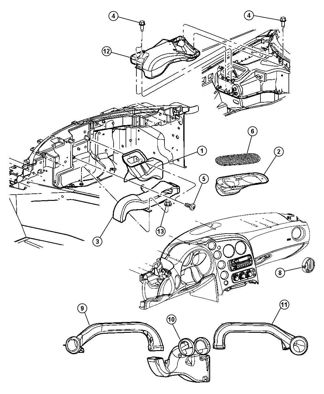 Dodge Ram Duct Defroster Floor Distribution