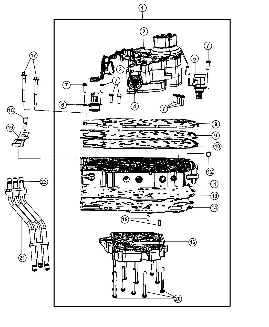Dodge Avenger Solenoid Module Transmission Top Overall