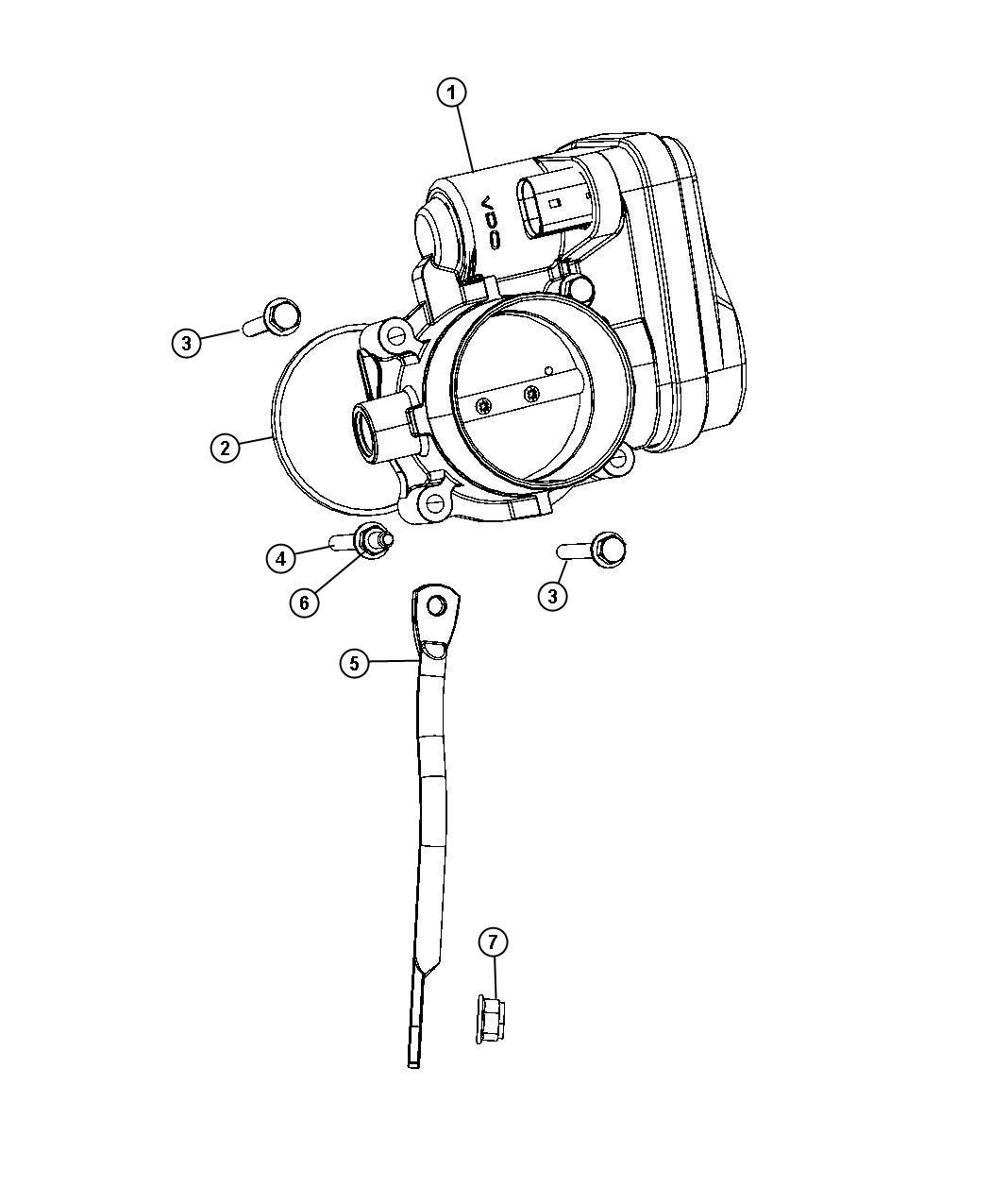 2008 Chrysler Sebring Throttle body. Intake, manifold