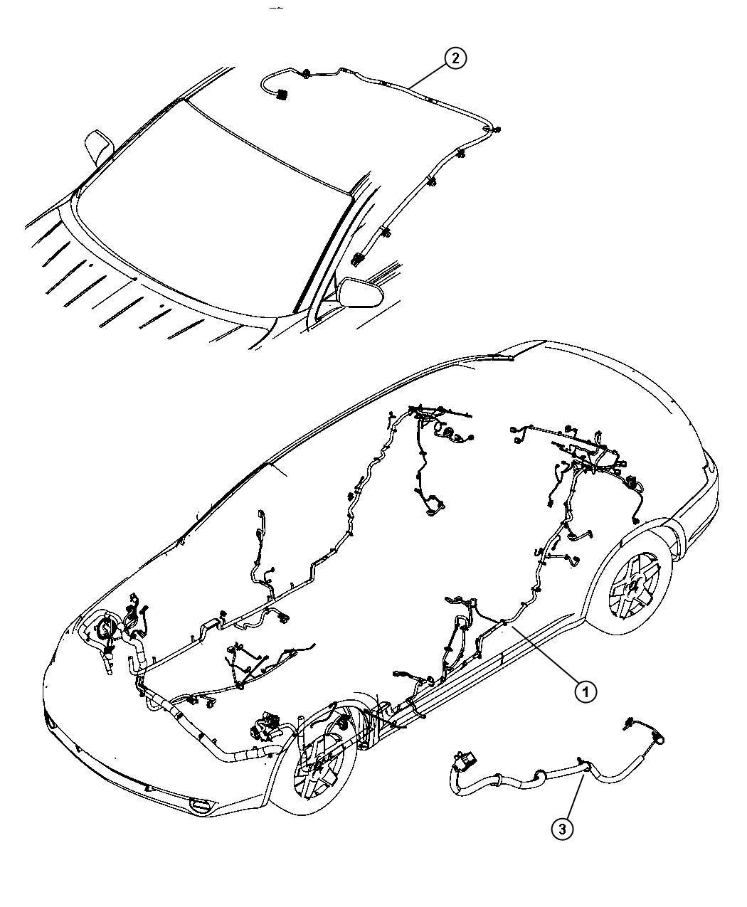 Dodge Avenger Wiring. Unified body. Export. Mopar