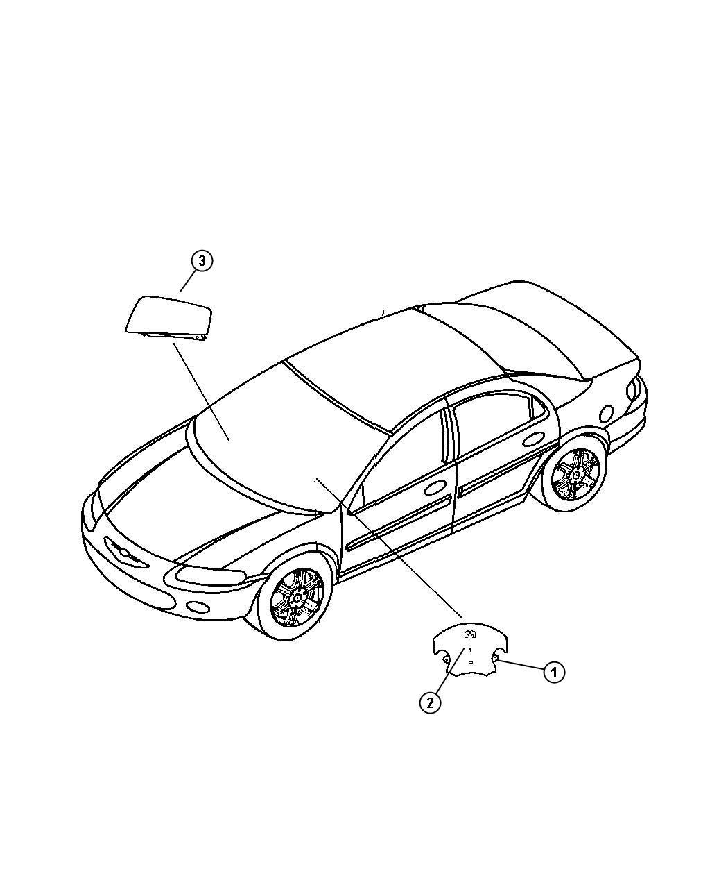 2008 Dodge Avenger Air bag. Driver. Trim: [all trim codes
