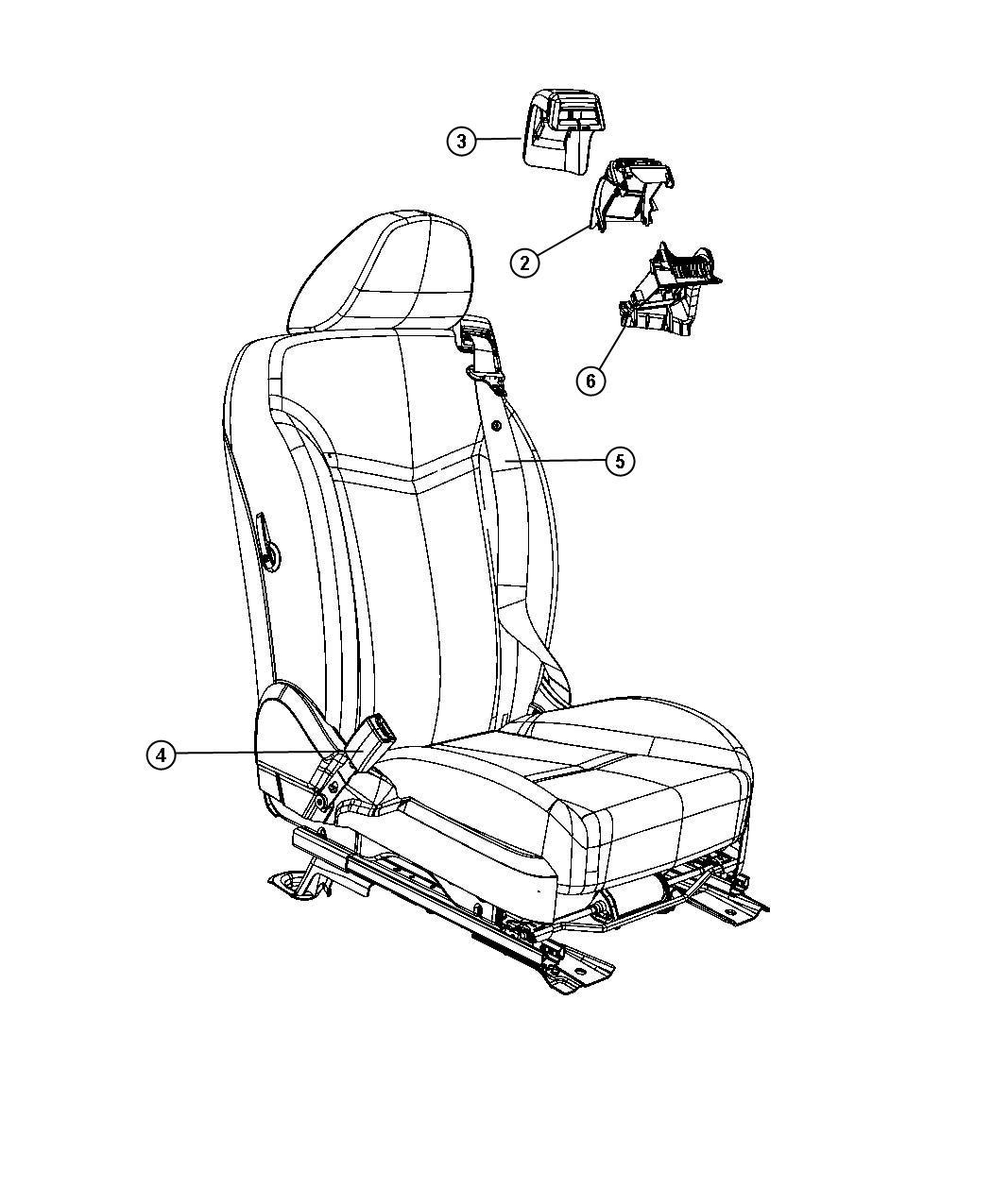 Chrysler Sebring Seat Belt Retractor Right Trim