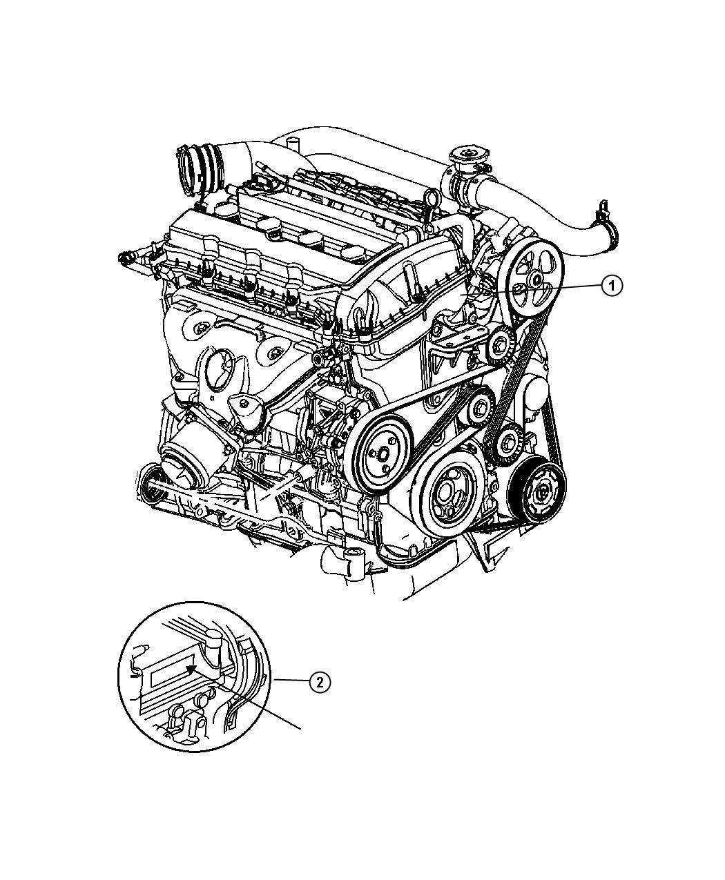 2008 Chrysler Sebring Engine. Long block. Remanufactured