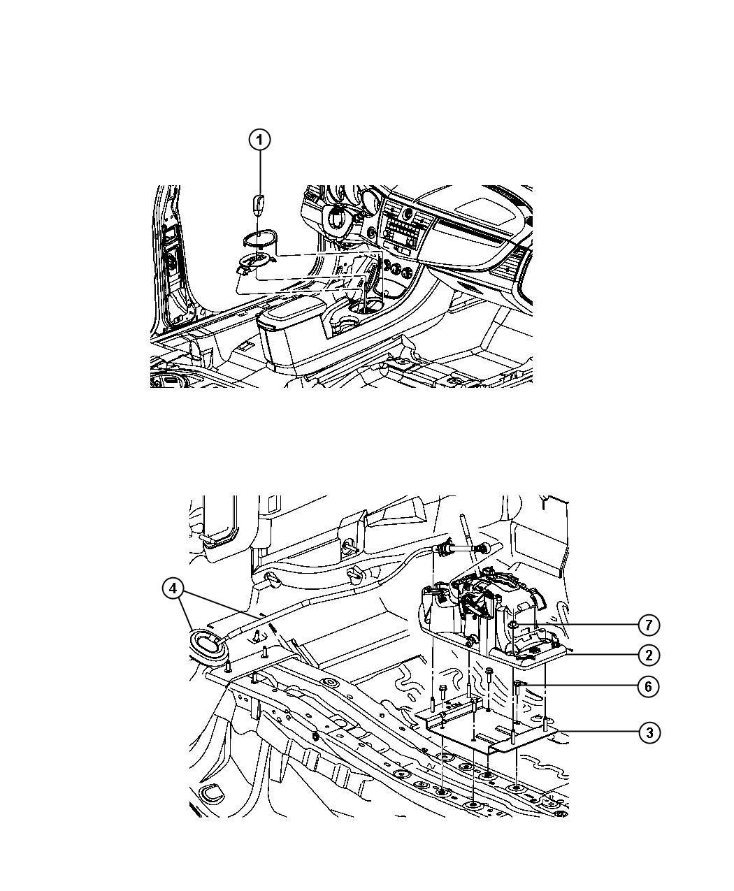2008 Chrysler Sebring Shifter. Transmission. Autostick