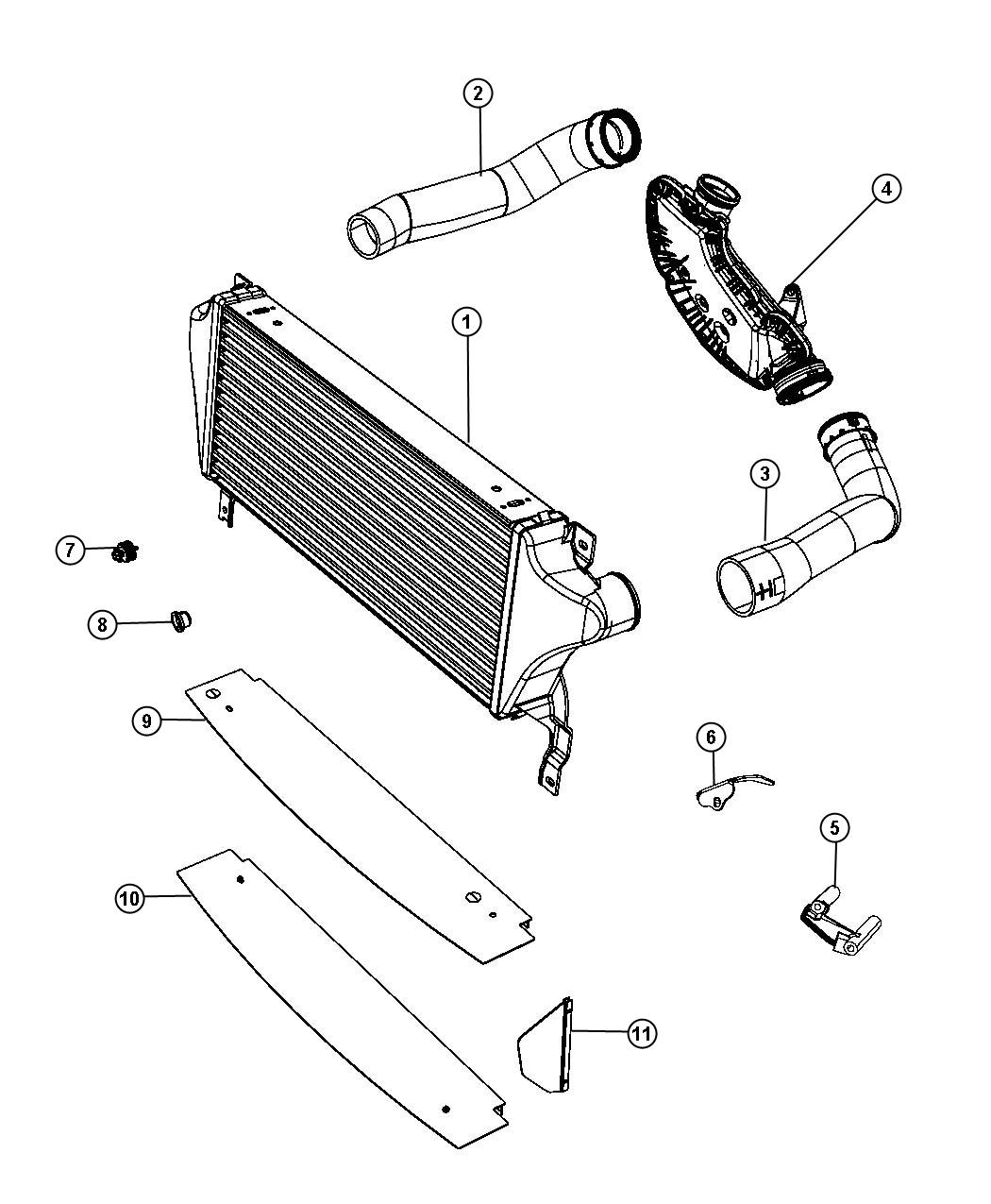 Chrysler Town Amp Country Cooler Charge Air Up To 01 01 13 Related Radiator Cooling