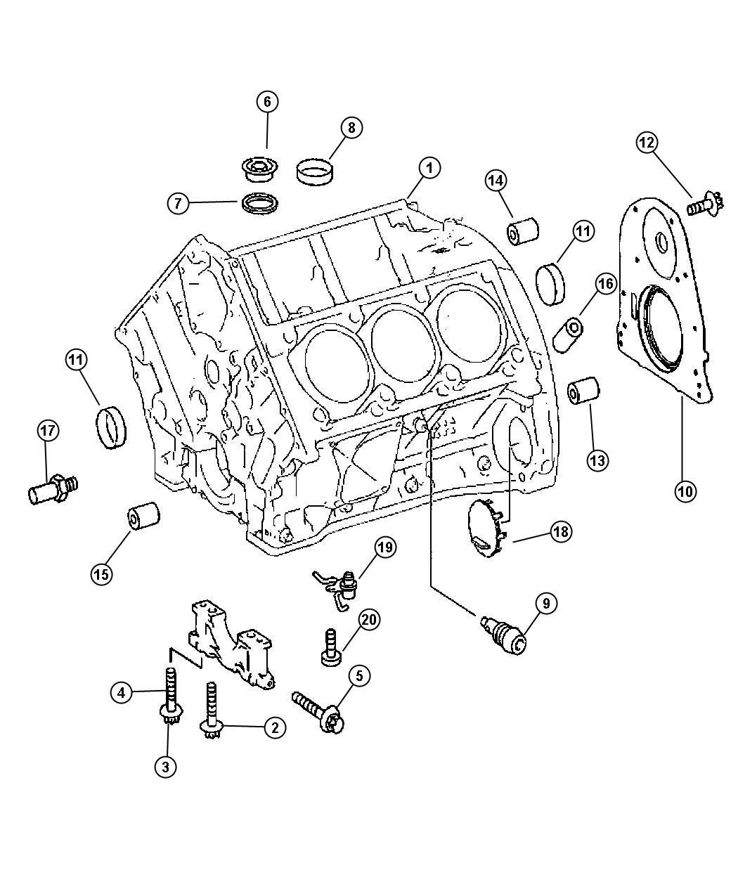 Dodge Sprinter Retainer Crankshaft Rear Oil