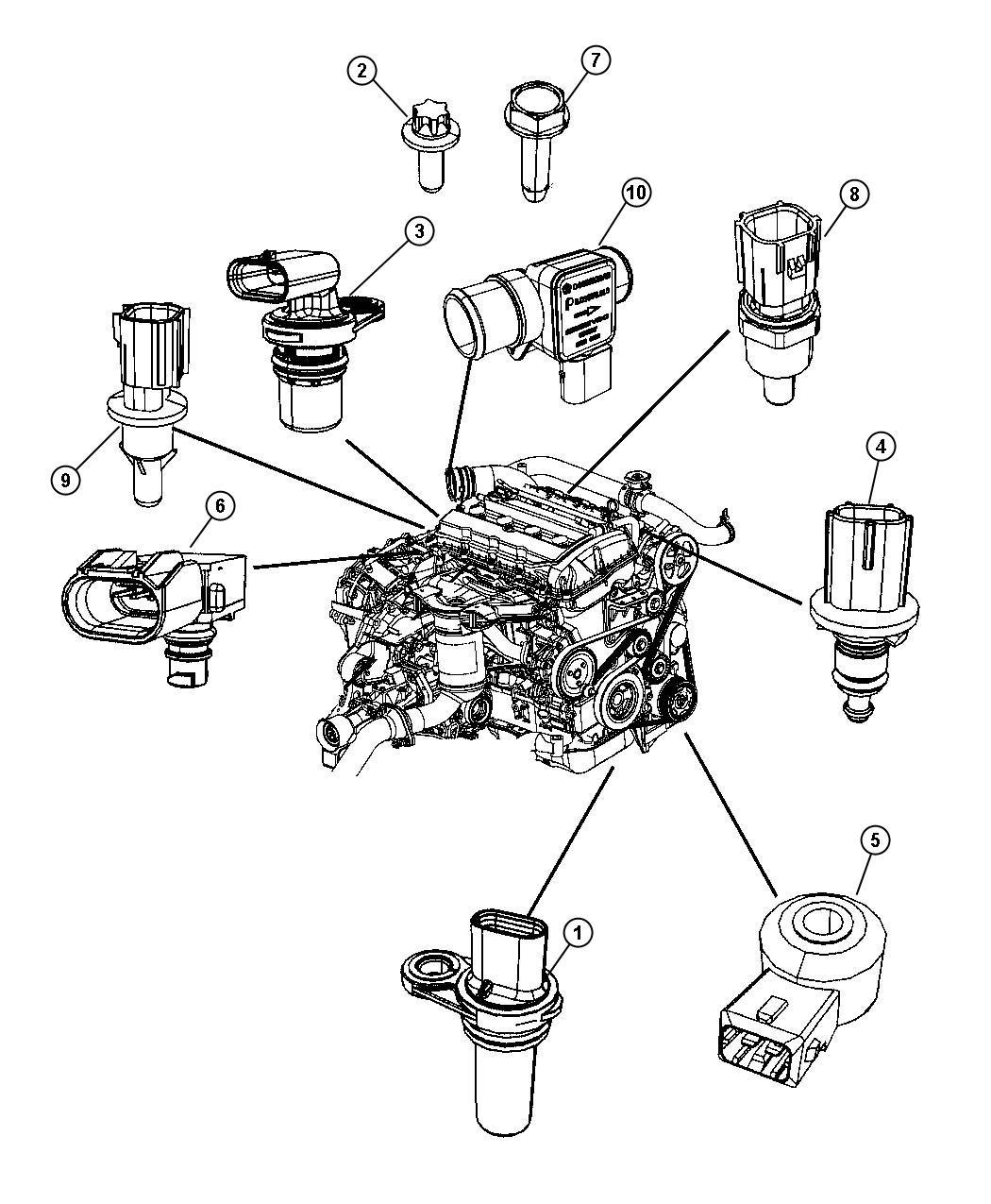 2017 Dodge Journey Sensor. Crankshaft position. Vehicle