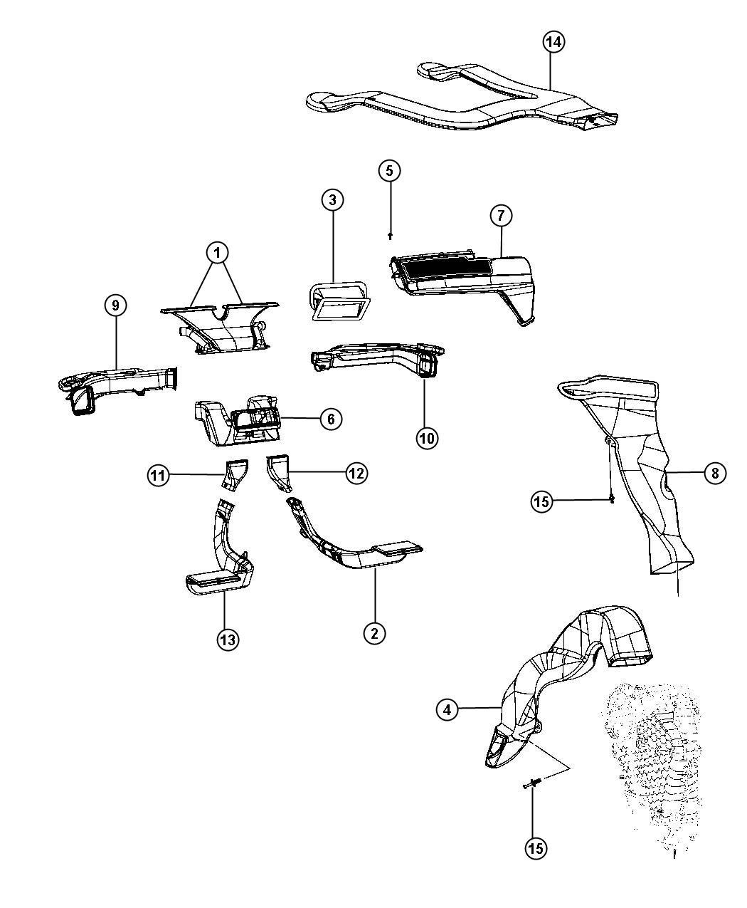 Dodge Journey Duct Heat Distribution Air