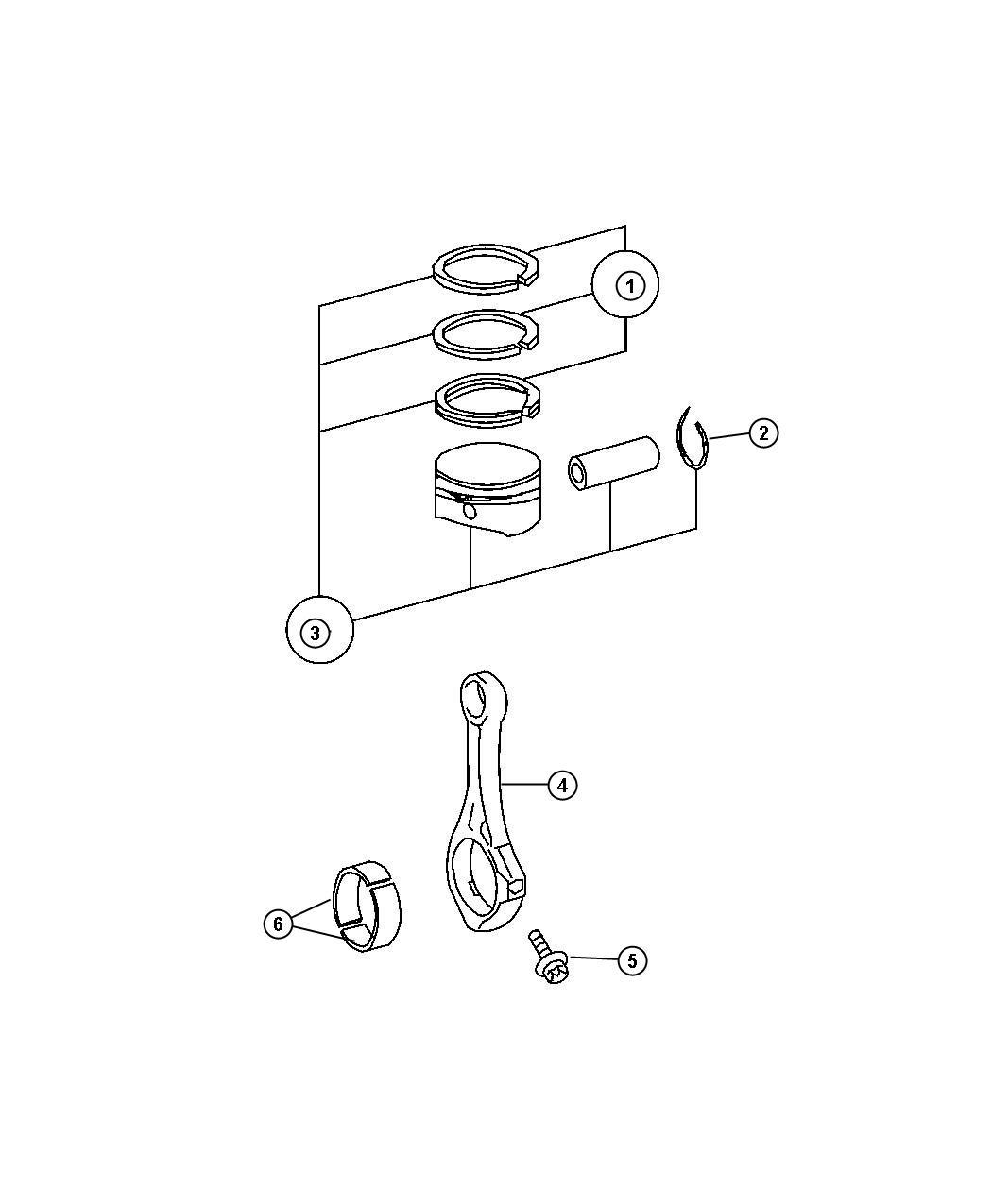 Dodge Sprinter Bearing Connecting Rod Parts